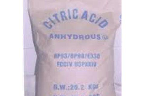 Dry citric acid