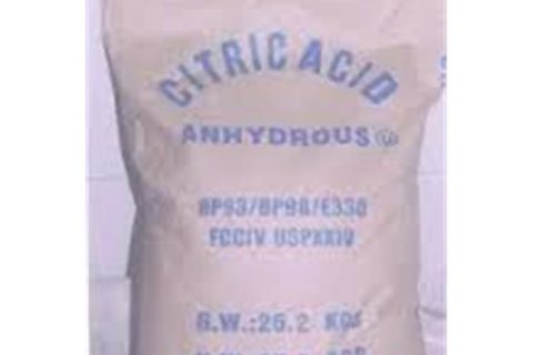 Dry citric acid